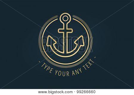 Anchor vector logo icon. Sea, vintage or sailor and sea symbol. Anchor logo. Anchor icon. Sea symbol. Premium quality, tatoo.
