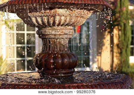 Fountain In Suburban Residense