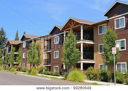 New Apartment Complex In Suburban Neighborhood