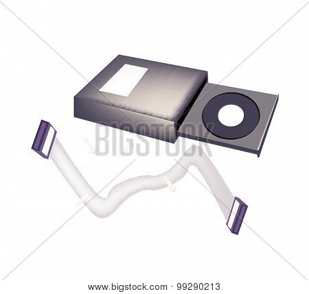 Open Cd-rom Disk Drive For Desktop Computer
