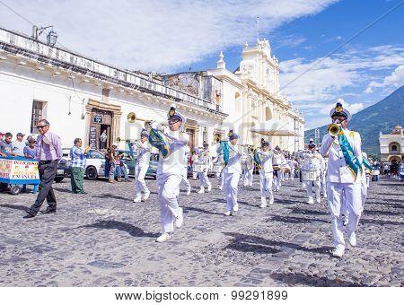 The Patron Saint Of Antigua Procession