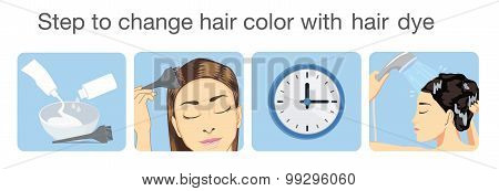 Step to change hair color
