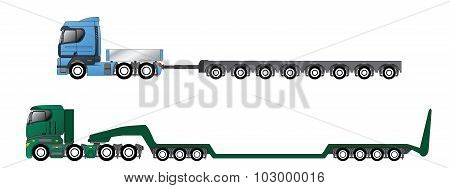 Trucks With Oversize And Overweight Trailers