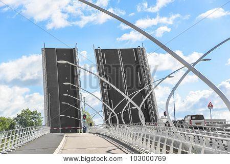 Details of modern bridge.