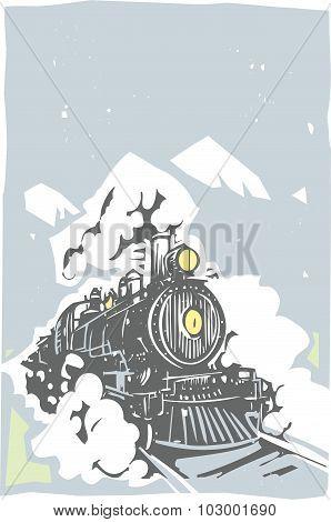 Woodcut Locomotive Color
