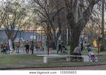 Children Games Park In Montevideo Uruguay