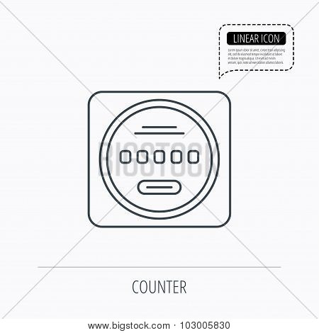 Electricity power counter icon. Measurement sign.