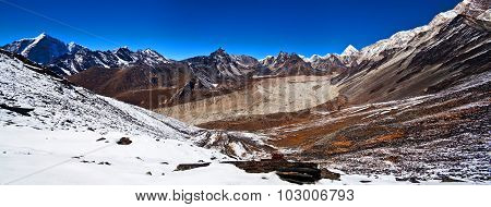 Mountain Landscape In Nepal Himalaya