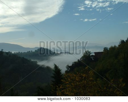 Urbino Misty Mountains