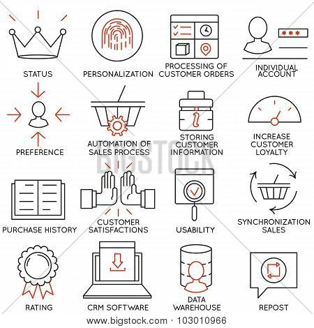 Vector Set Of 16 Icons Related To Business Management - part 12