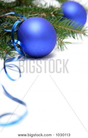 Bulbos de Navidad azul