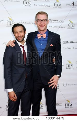LOS ANGELES - SEP 26:  Mitch Lerner, Eric McCoy at the Catalina Film Festival Saturday Gala at the Avalon Theater on September 26, 2015 in Avalon, CA