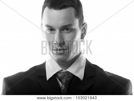 Portrait Of The Handsome Young Businessman