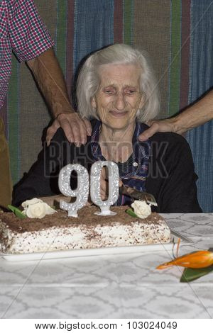 Mixed Feelings Of An Old Lady Celebrating Her 90Th Birthday