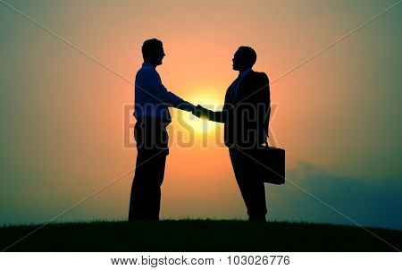 Business Handshake Greeting Deal Agreement Concept poster