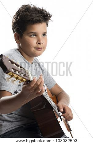 Child Musician Looks at Negative Space