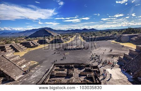 Avenue Of Dead, Teotihuacan Mexico City Mexico