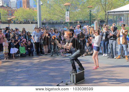 Street performer Melbourne Australia
