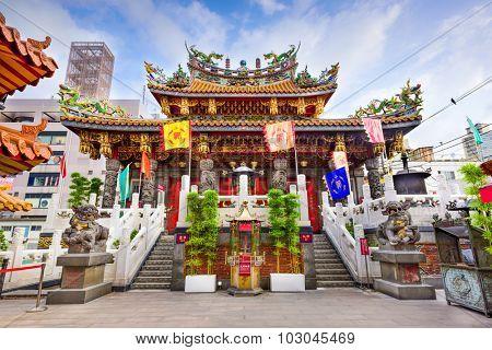 YOKOHAMA, JAPAN - AUGUST 11, 2015: Kwan Tai Temple in Yokohama's Chinatown district.