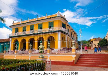 TRINIDAD CUBA - SEPTEMBER 8 2015: It was built at the beginning of the 1800s and was designated a World Heritage Site by UNESCO in 1988. poster