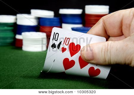 A pair of tens at texas holdem Poker