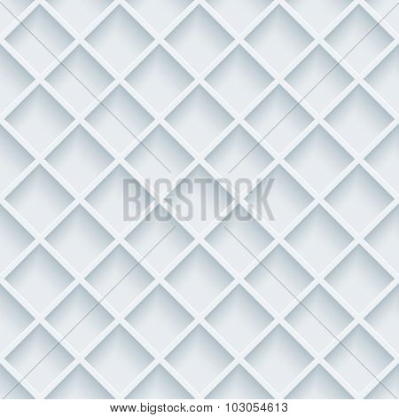 Grill 3d seamless background. White perforated paper with cut out effect.