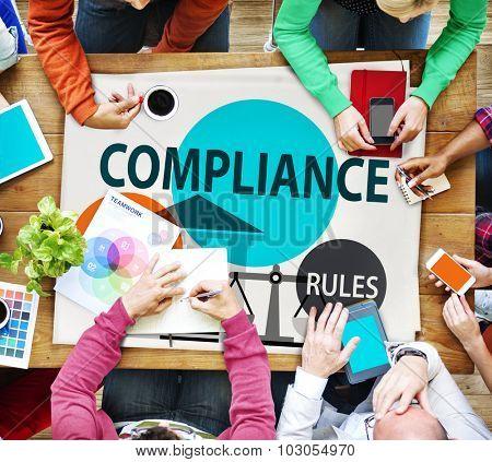 Compliance Legal Rule Conformity Concept