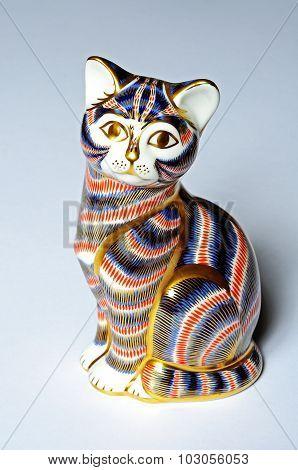 Crown Derby cat.