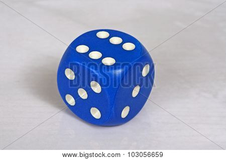 Platonic blue and white dice.