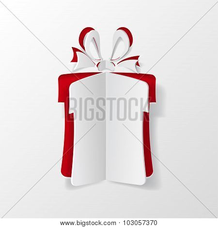 Gift Box Cut Of Paper