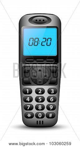 Modern Wireless Phone. Vector Illustration
