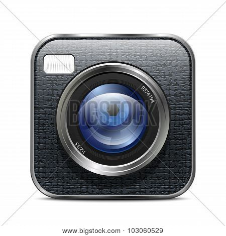 Photo Camera Icon. Vector Illustration