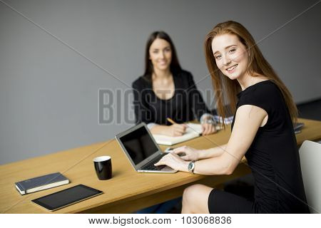 Young Women Working In The Office