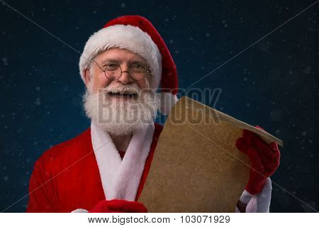 Santa with list of names