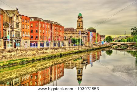 View Of Dublin With The River Liffey - Ireland