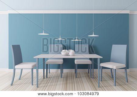Interior Of Dining Room 3D