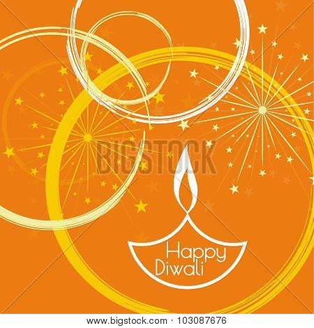 Abstract background with oil lit lamp