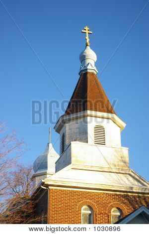 Church Steeple With Dome