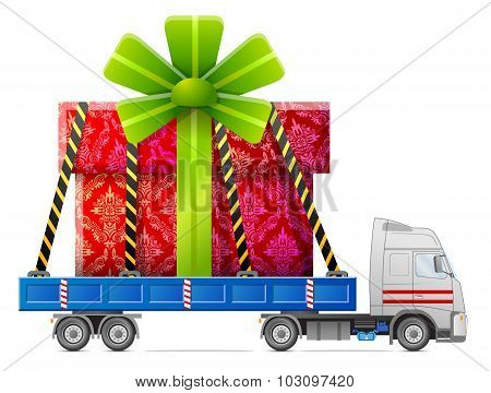 Road Transportation Of Gift Box