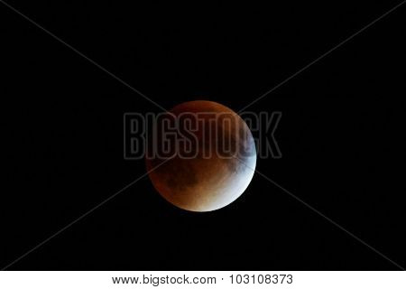 Red Supermoon And Eclipse