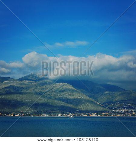 Autumn Landscape Of Gaeta Bay. Mediterranean Sea.