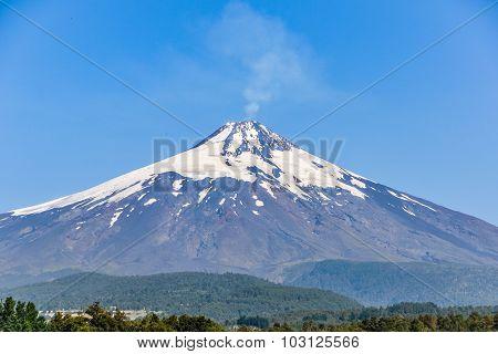 Close View Of Villarrica Volcano, Pucon, Chile