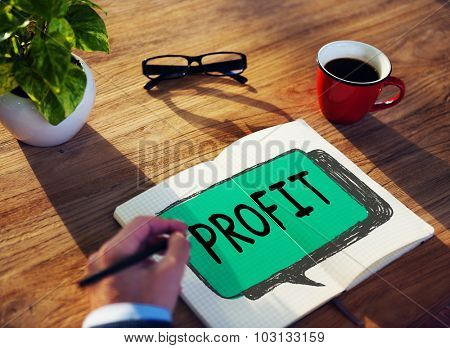 Profit Gain Financial Revenue Income Concept poster