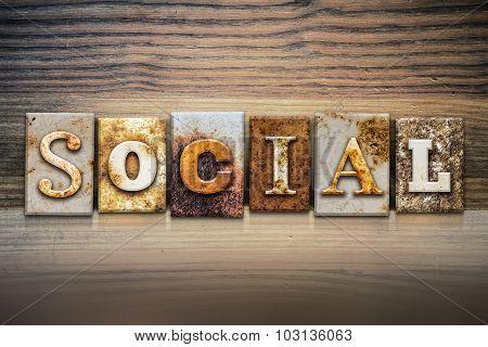 Social Concept Letterpress Theme