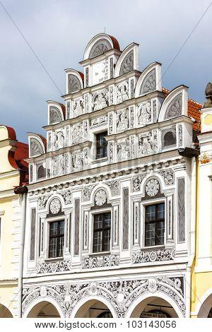 renaissance house in Telc, Czech Republic