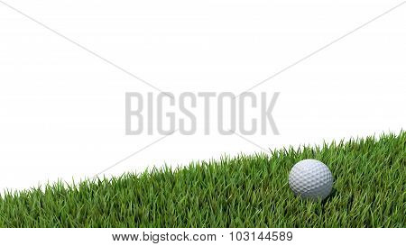 Golf Ball On Green 02