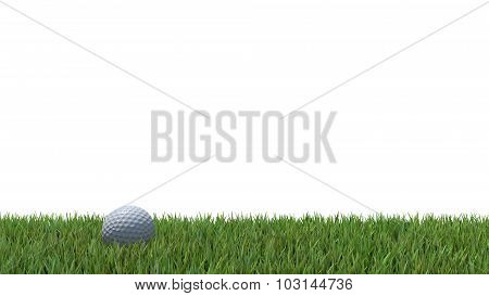 Golf Ball On Green 04