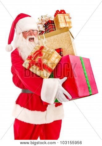 Santa Claus Brought A Lot Of Christmas Presents