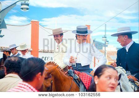 Three Hidalgos At Traditional Fair