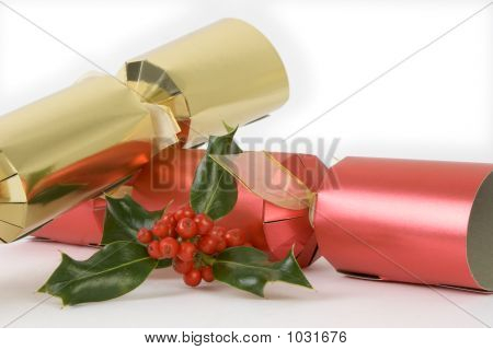 Red And Gold Crackers